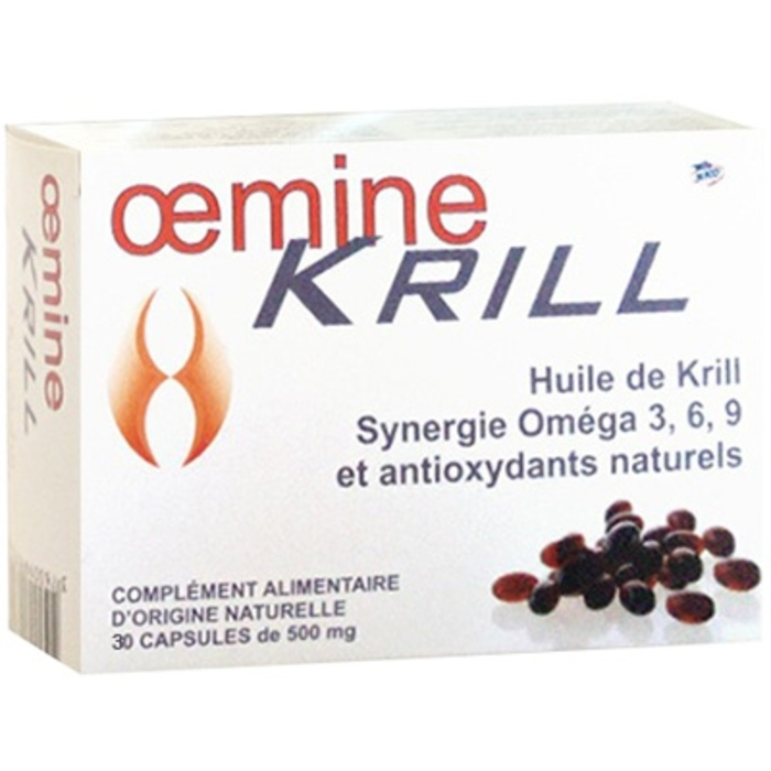 Anti-âge et antioxydant krill - 30 capsules Oemine-140155