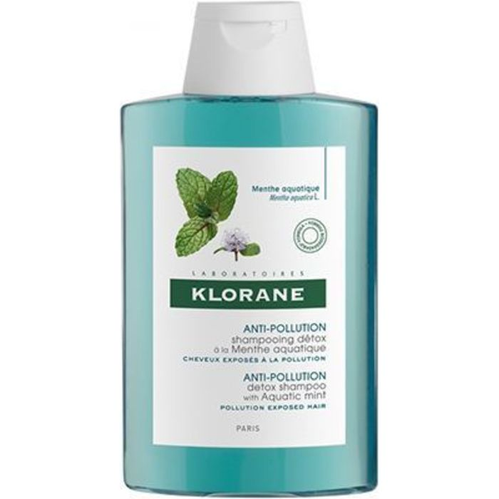 Anti-pollution shampooing détox à la menthe aquatique 200ml Klorane-226131