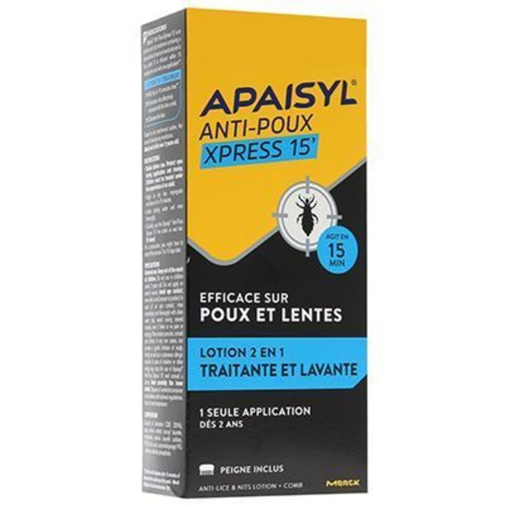 Anti-poux express 15' - 100.0 ml - apaisyl -190463