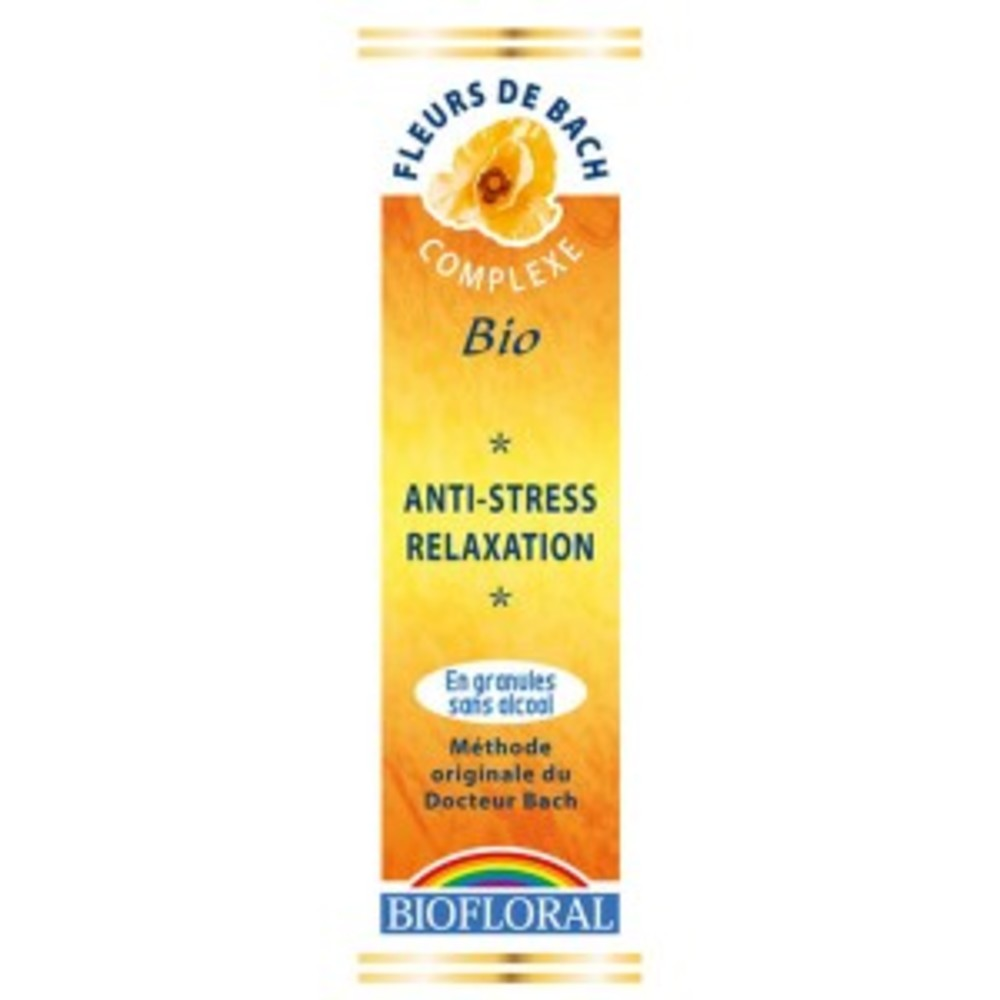 Anti stress-relaxation granules bio - 10.0 g - complexes élixirs floraux - biofloral -123554