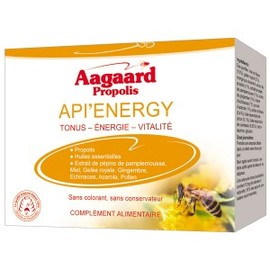 Api' energy - 10.0 unites - pratiques - aagaard propolis -139360