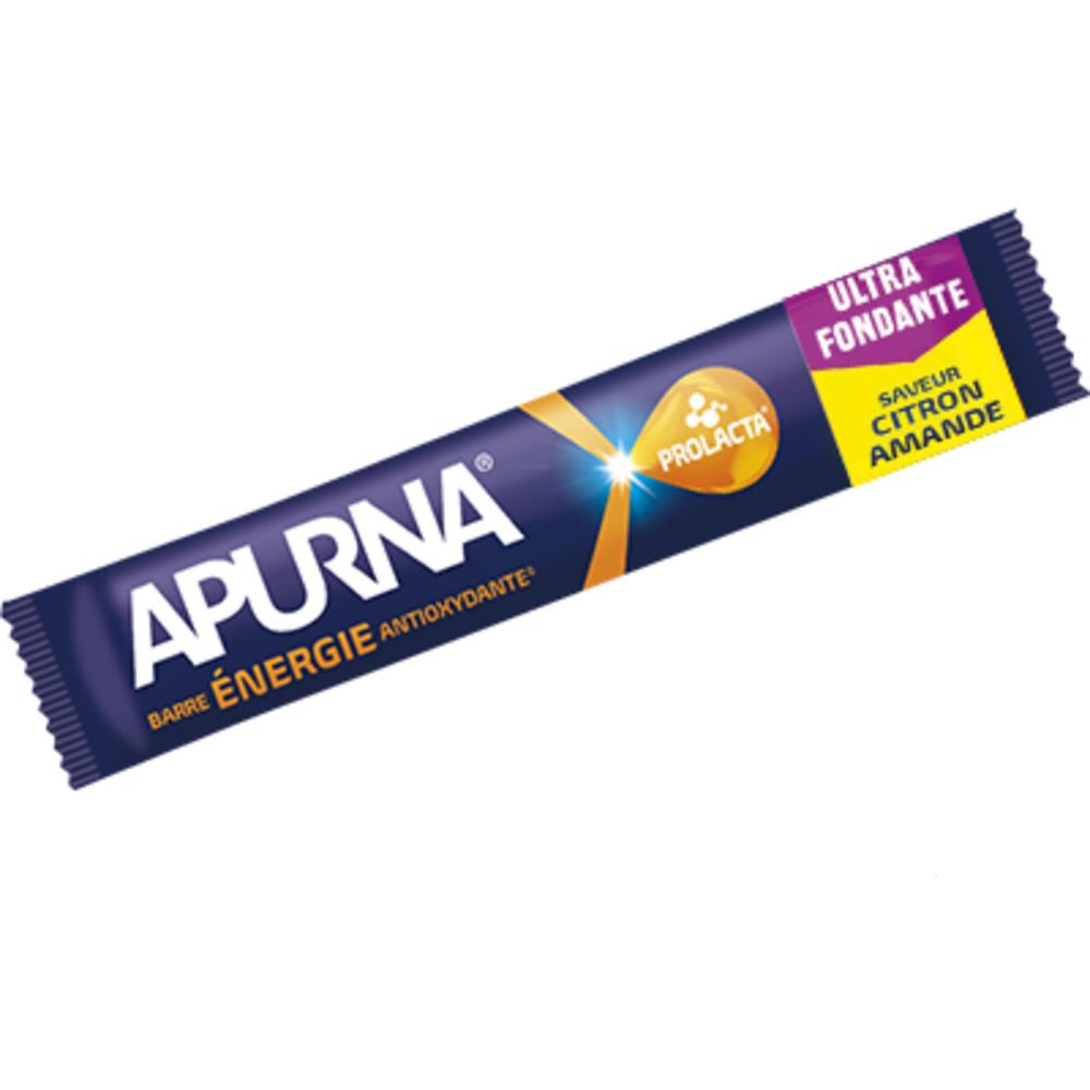 Apurna barre céréales energie antioxydante saveur citron-amande 25g - apurna -207346