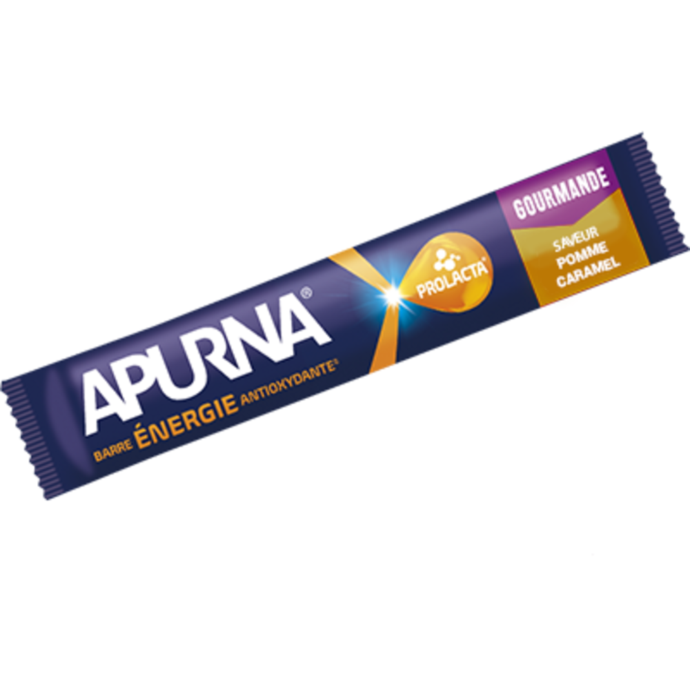 Apurna barre céréales energie antioxydante saveur pomme-caramel 40g - apurna -207347