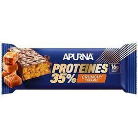 Apurna barre hyperprotéinée crunchy caramel 45g - apurna -225301