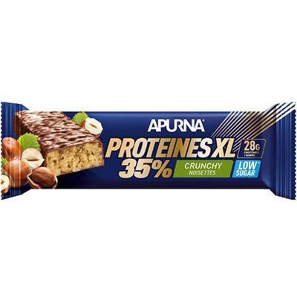 Apurna barre hyperprotéinée xl crunchy noisettes 80g - apurna -225305