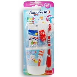Aquafresh brosse à dents 3-5ans + gobelet - gsk -191964