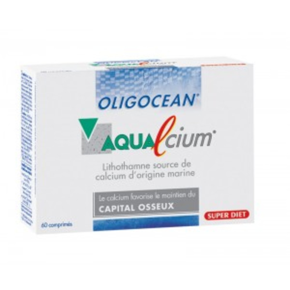Aqualcium - 60 comprimés - 60.0 unites - gamme oligocean - super diet -142692