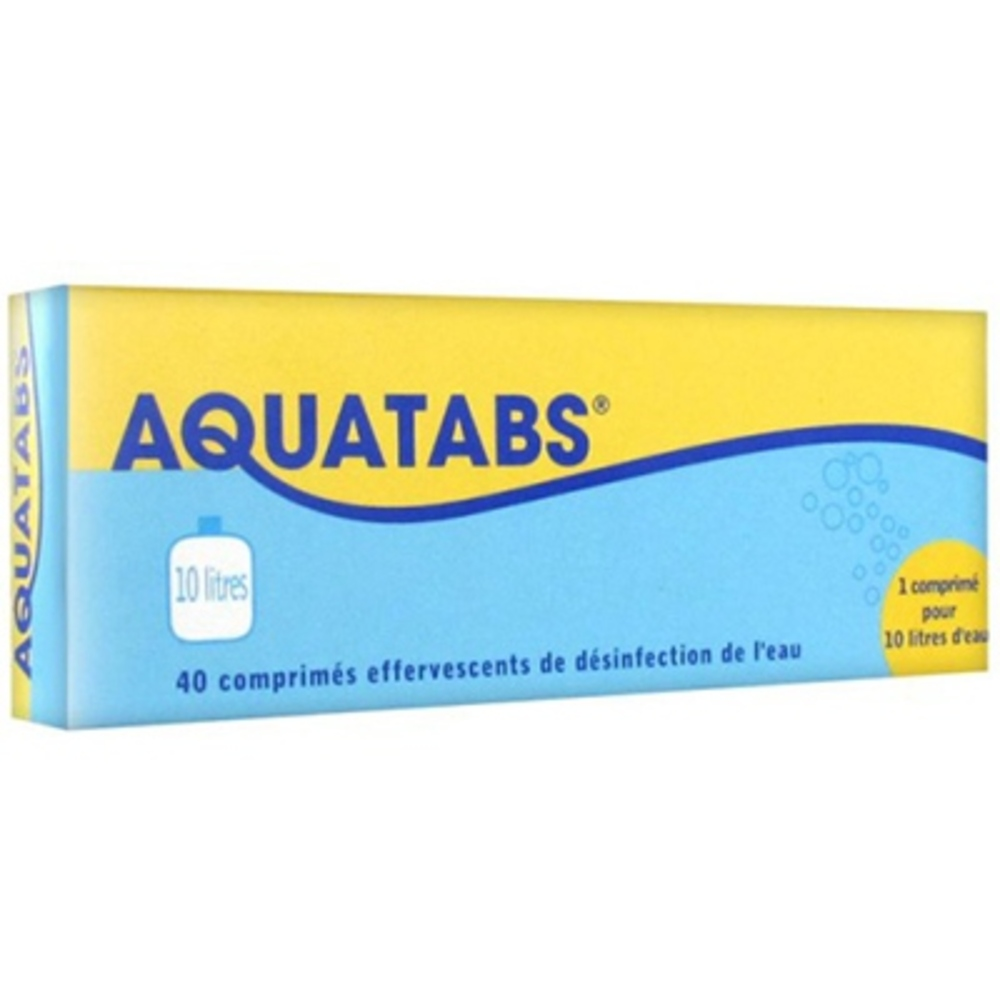Aquatabs 10 litres - 40 comprimés effervescents - aquatabs -197540