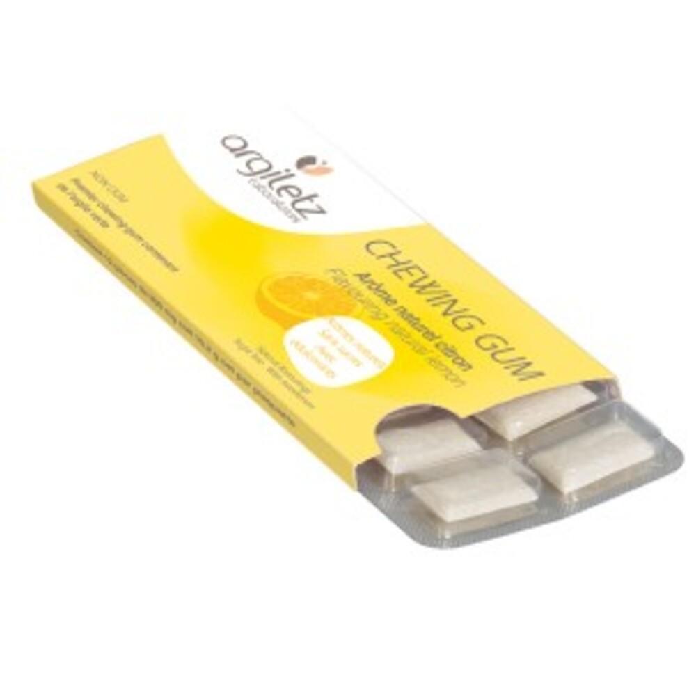 Argil'gum citron - chewing gum - argiletz Sans sucre, arôme citron-9621