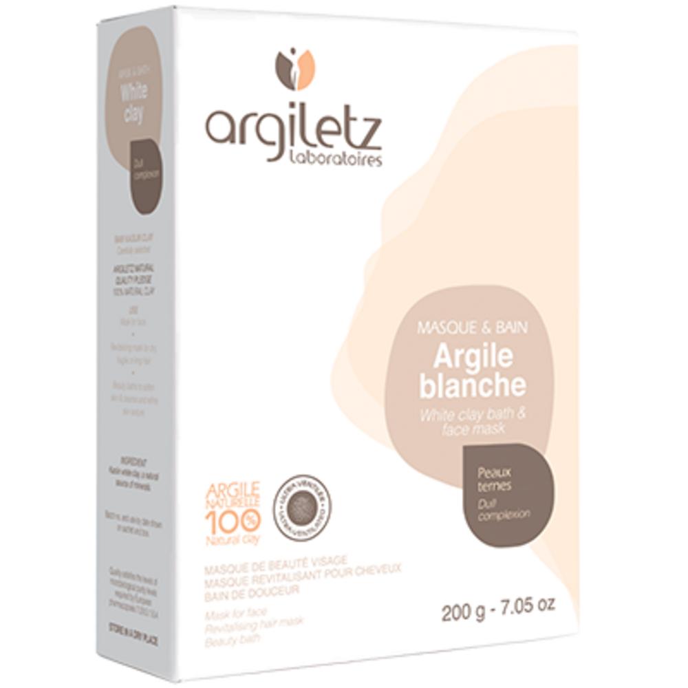 Argile blanche 200 g - 200.0 g - les spécifiques et les argiles de couleur - argiletz Peaux ternes-9633