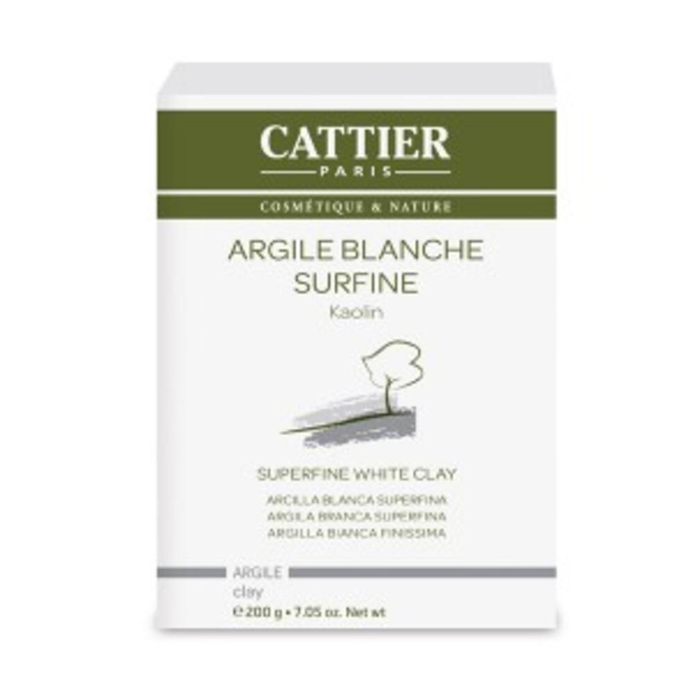 Argile blanche surfine - 200.0 g - Vrac - Cattier Peaux sèches et fragiles-1485