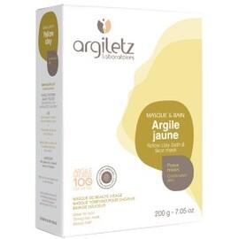 Argile jaune ultra ventilée - 200.0 g - les spécifiques et les argiles de couleur - argiletz Peaux mixtes-9635