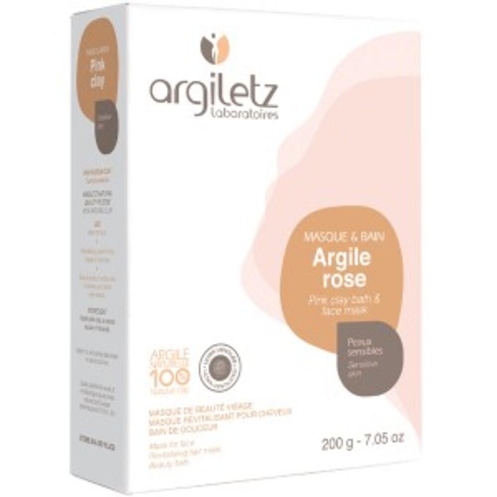 Argile rose ultra ventilée - 200.0 g - les spécifiques et les argiles de couleur - argiletz Peaux sensibles-9636