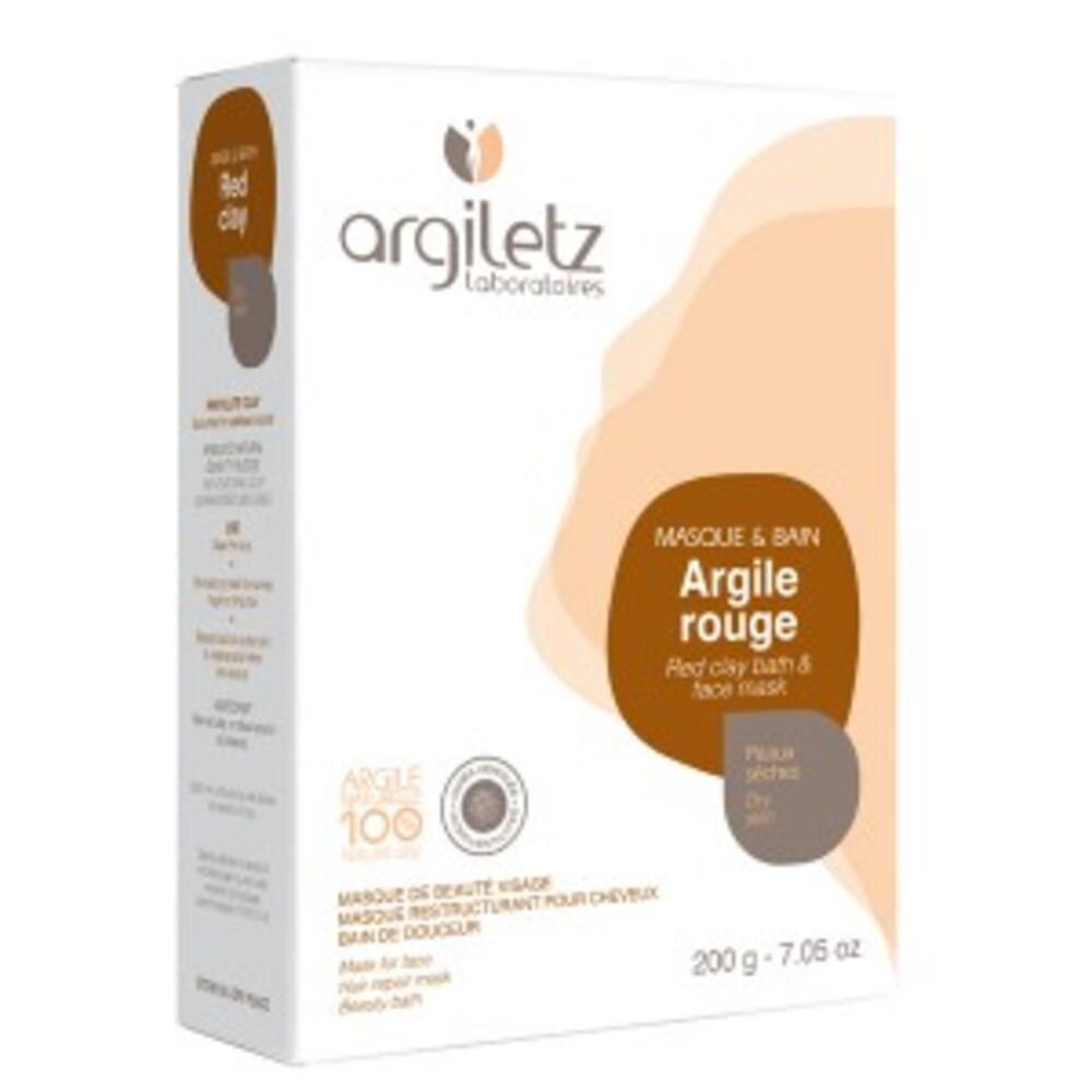 Argile rouge ultra ventilée - 200.0 g - les spécifiques et les argiles de couleur - argiletz Peaux sèches-9634