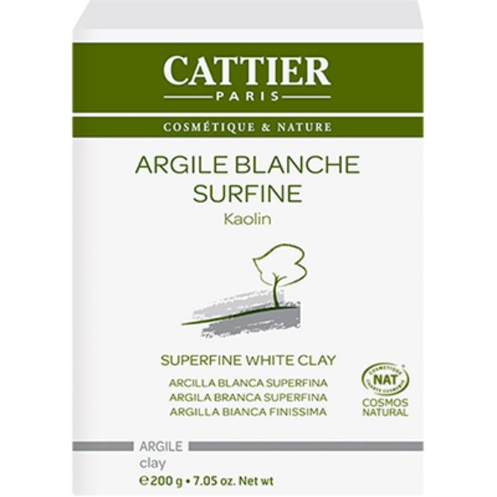 Argile surfine blanche bio 200g Cattier-1485