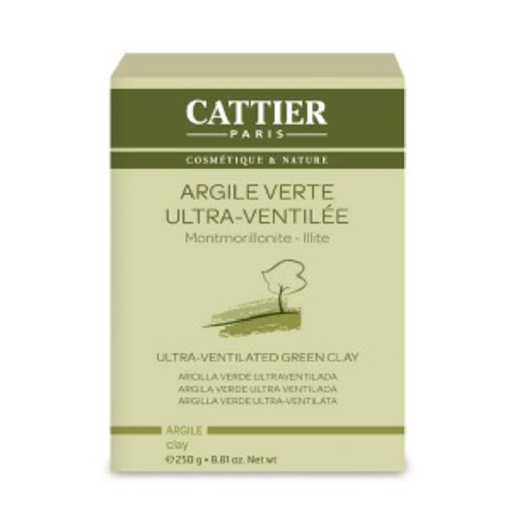 Argile verte ultra ventilée - 250.0 g - vrac - cattier Peaux mixtes à grasses-4728