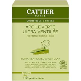 Argile verte ultraventilée bio 250g - 250.0 g - vrac - cattier Peaux mixtes à grasses-4728
