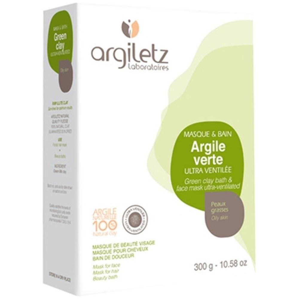 Argiletz argile verte ultra-ventilée - 300.0 g - poudre d'argile verte - argiletz Ultra ventilée-2663