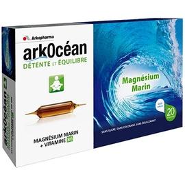 Arkocéan détente et equilibre - goût caramel - 300.0 ml - fatigue musculaire - arkopharma ArkOcéan Magnésium Marin et Vitamine B6 (Ampoules)-148127