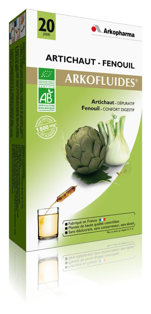 Arkofluides artichaut fenouil bio - détoxifiant - arkopharma Arkofluides Artichaut Fenouil Bio-191819