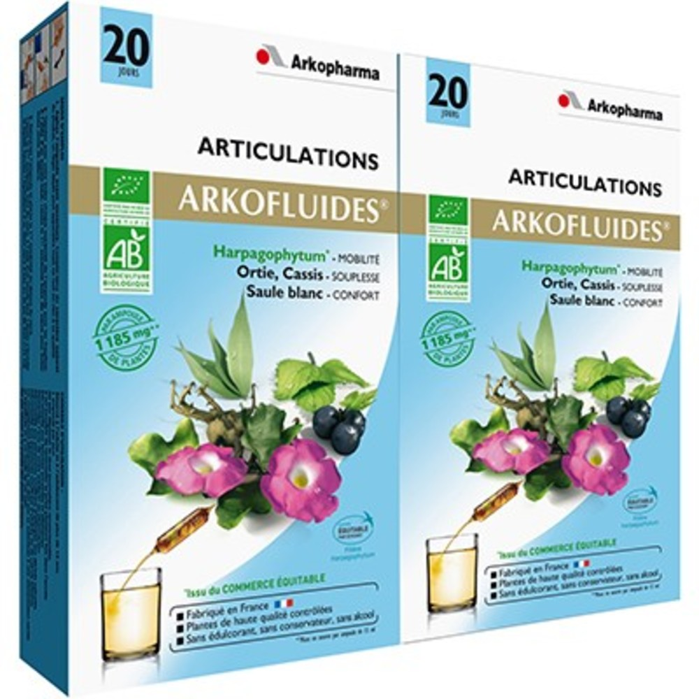 Arkofluides articulations bio - 20 ampoules - 300.0 ml - arkopharma -191447