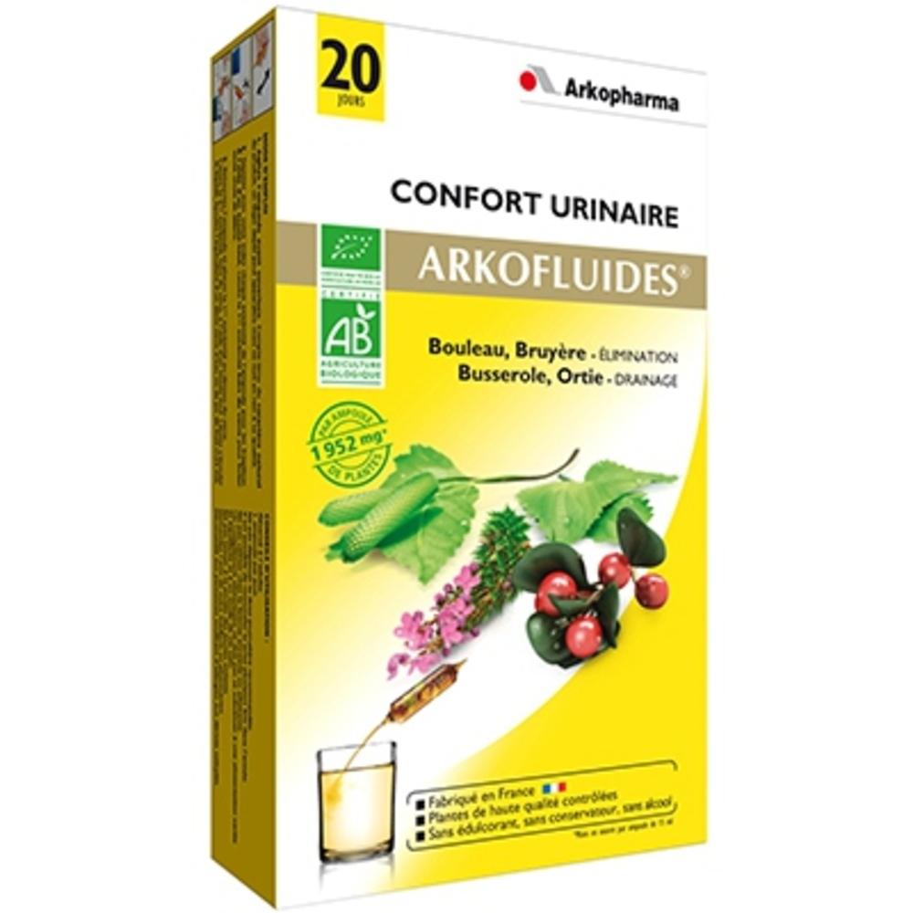 Arkofluides confort urinaire bio - 20 ampoules - 300.0 ml - bien-être urinaire - arkopharma Arkofluides Confort Urinaire Bio-147903