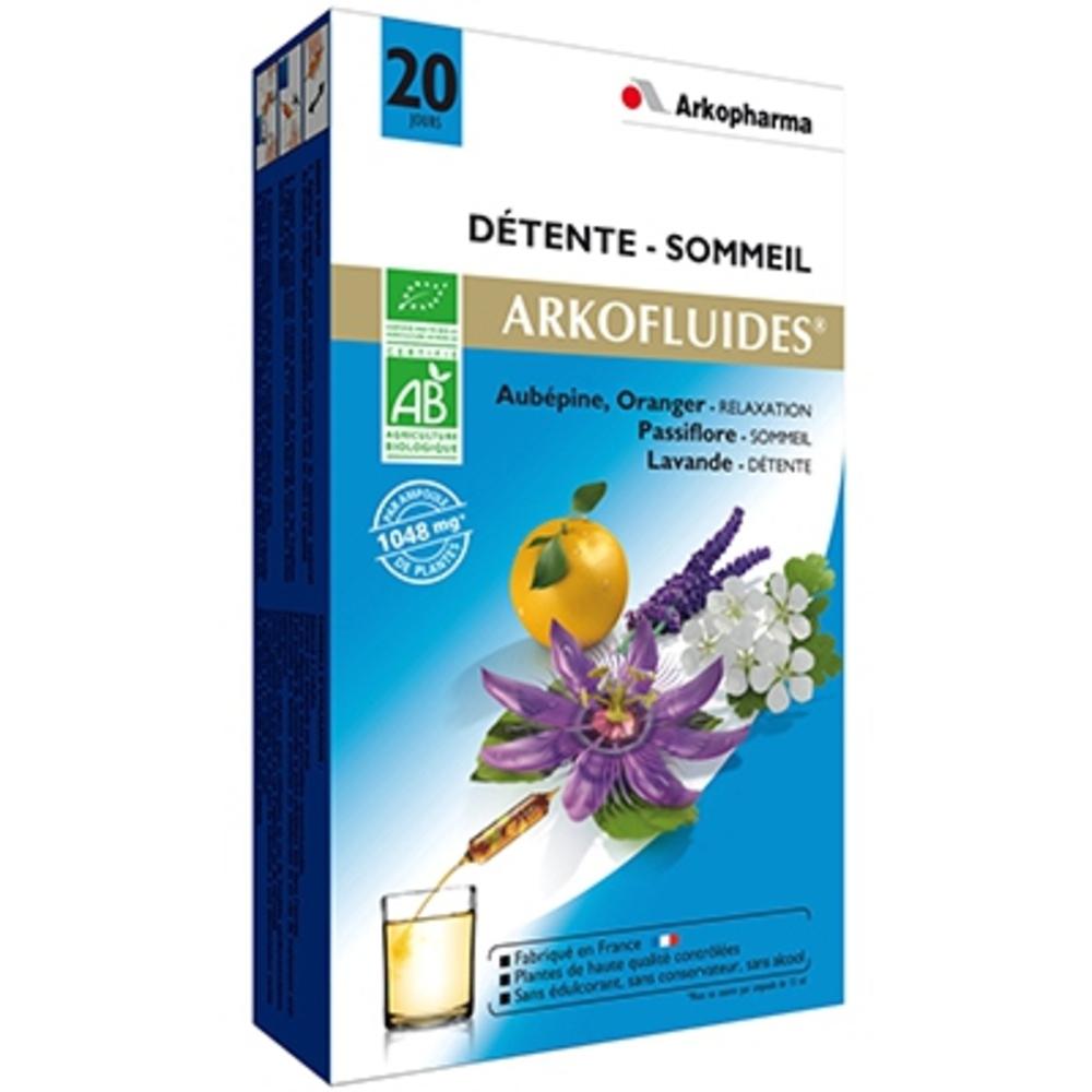 ARKOFLUIDES Détente Sommeil BIO - 20 ampoules - 300.0 ML - détente - Arko Pharma Arkofluides Détente Bio-147857