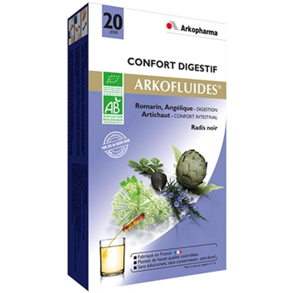 Arkofluides digestion bio - 20 ampoules - 300.0 ml - bien-être digestif et transit - arkopharma Arkofluides Digestion Bio-147901
