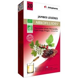 Arkofluides jambes légères bio - 20 ampoules - 300.0 ml - jambes légères - arkopharma Arkofluides Jambes Légères Bio-147796