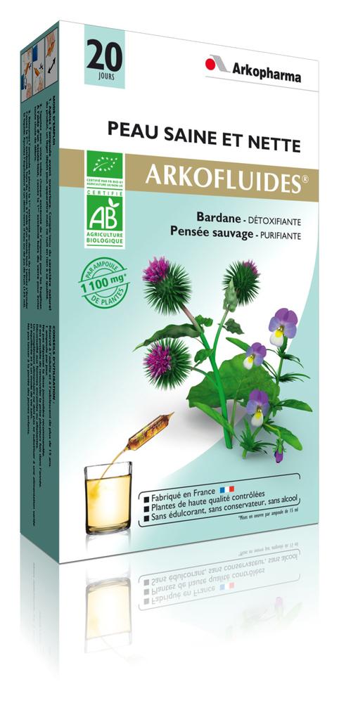 Arkofluides peau saine et nette - 300.0 ml - bonne mine - arkopharma Arkofluides Peau Saine et nette-148157