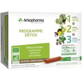 Arkofluides programme détox bio 3 x 10 ampoules - arkopharma -220313