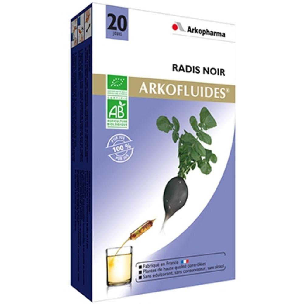 Arkofluides radis noir bio - 20 ampoules - arkopharma -202615