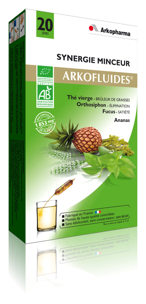 Arkofluides synergie minceur bio - draineur - arkopharma Arkofluides Synergie Minceur Bio-191862