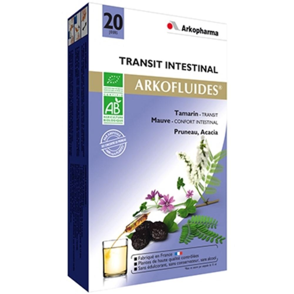 Arkofluides transit intestinal bio - 20 ampoules - 300.0 ml - bien-être digestif et transit - arkopharma Arkofluides Transit Bio-148311