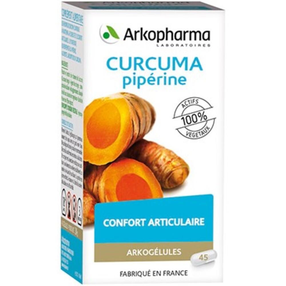 Arkogelules curcuma piperine - 45 gélules - confort articulaire - arkopharma Arkogélules Curcuma Piperine-148105