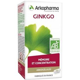 Arkogelules ginkgo 45 gélules - arkopharma -223707