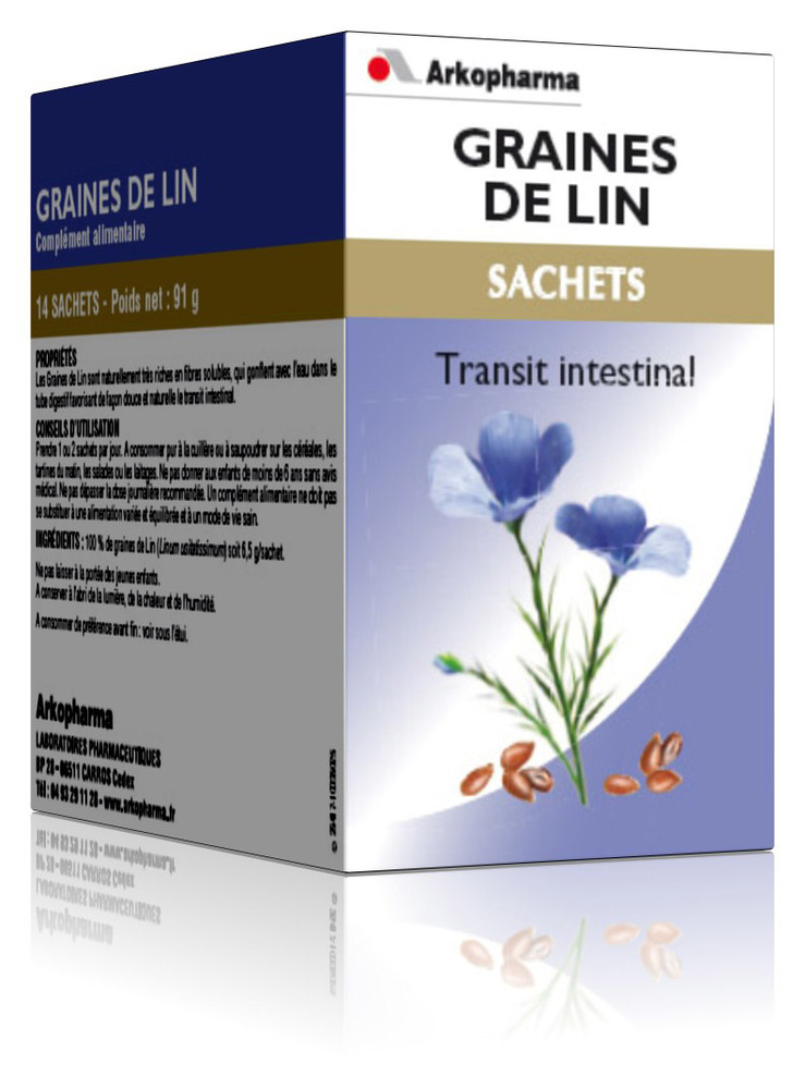 Arkogélules graines de lin - 91.0 g - bien-être digestif et transit - arkopharma Arkogélules Graines de Lin-190172