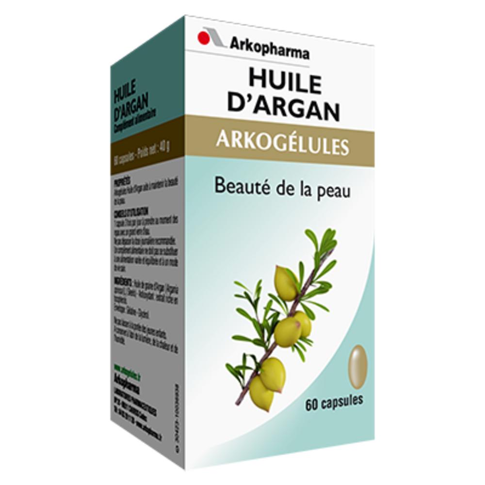 Arkogelules huile d'argan - 60 capsules - jeunesse et eclat de la peau - arkopharma Arkogélules Huile d'Argan-191790