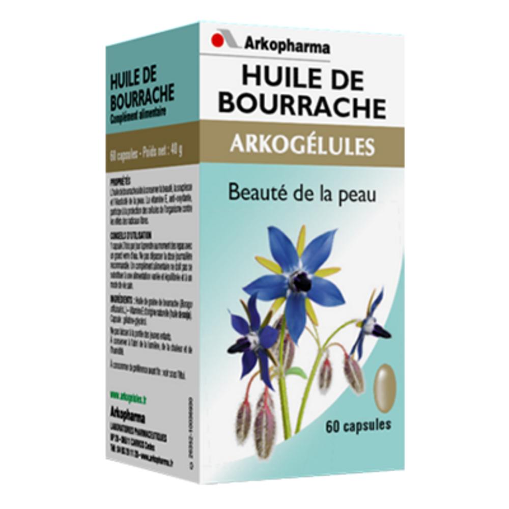 Arkogelules huile de bourrache - 60 capsules - 60.0  - soin de la peau - arkopharma Arkogélules Huile de Bourrache-147922