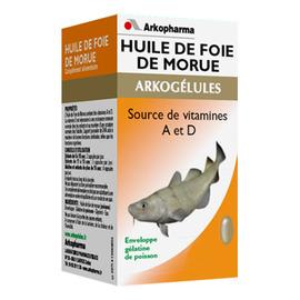 Arkogelules huile de foie de morue - eco - 220.0  - vitamine d - arkopharma Arkogélules Huile de Foie de Morue-191796