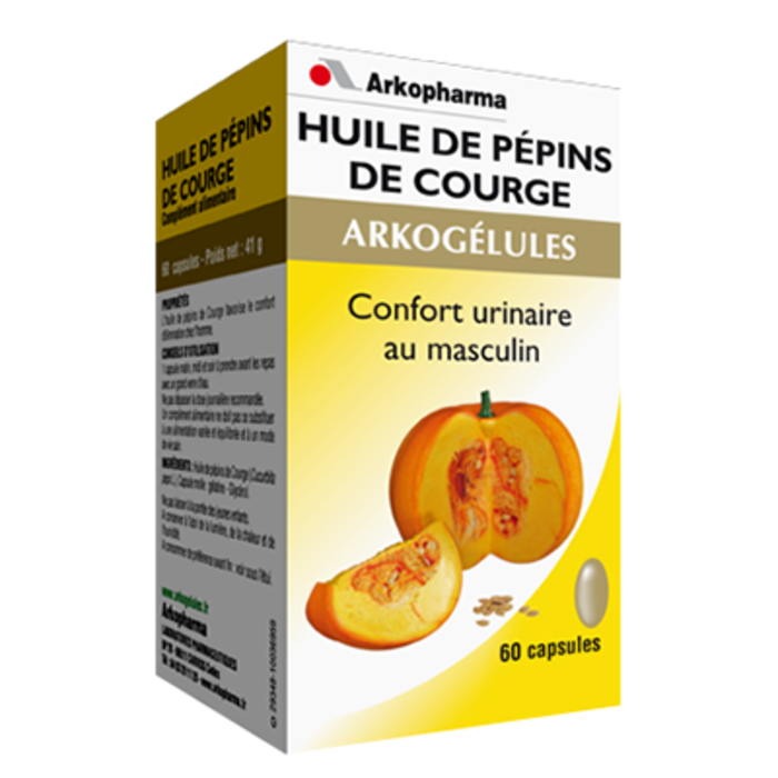 Arkogelules huile de pépins de courge - 60 capsules Arko pharma-147871