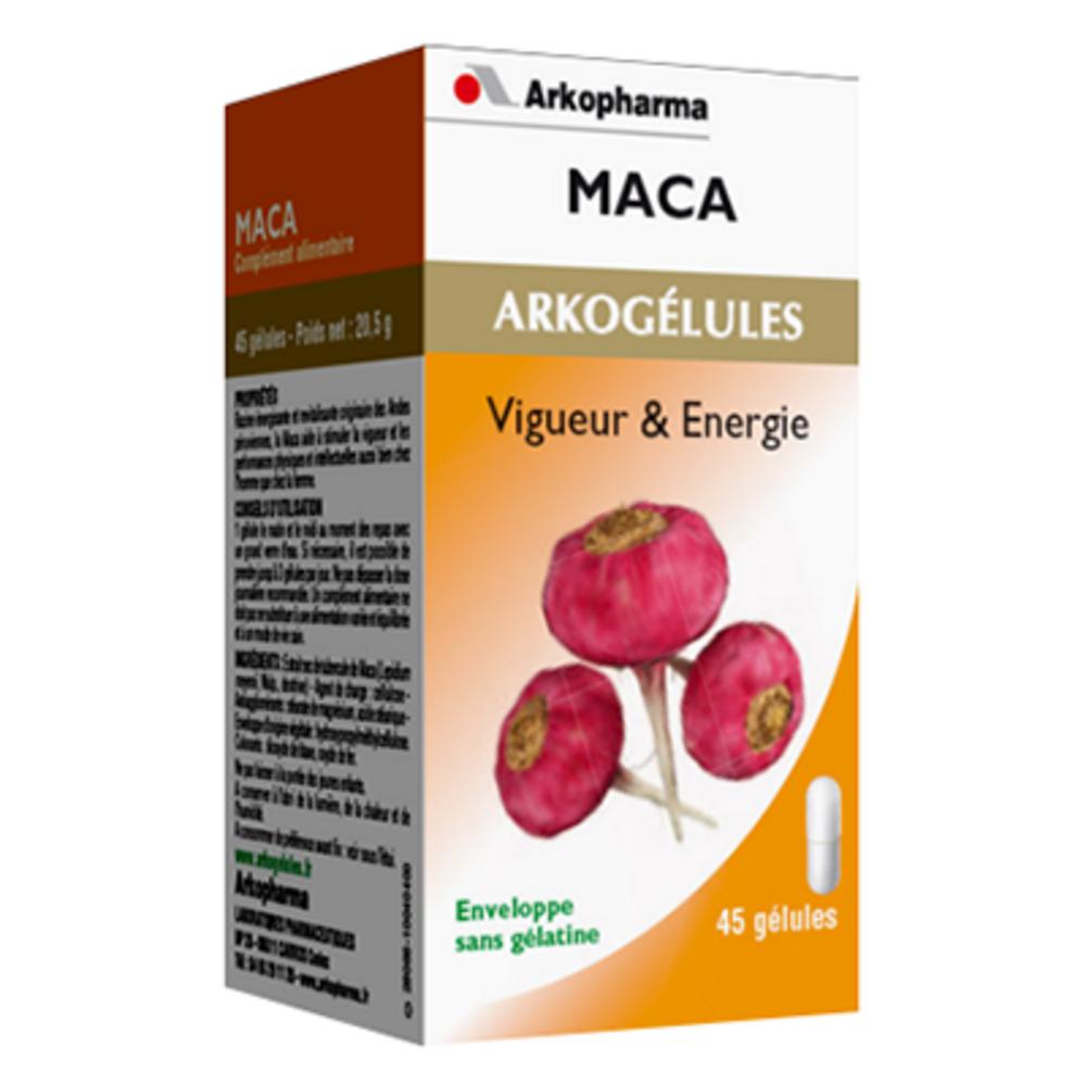 Arkogelules maca - 45 gélules - tonus vitalité - arkopharma Arkogélules Maca-188698