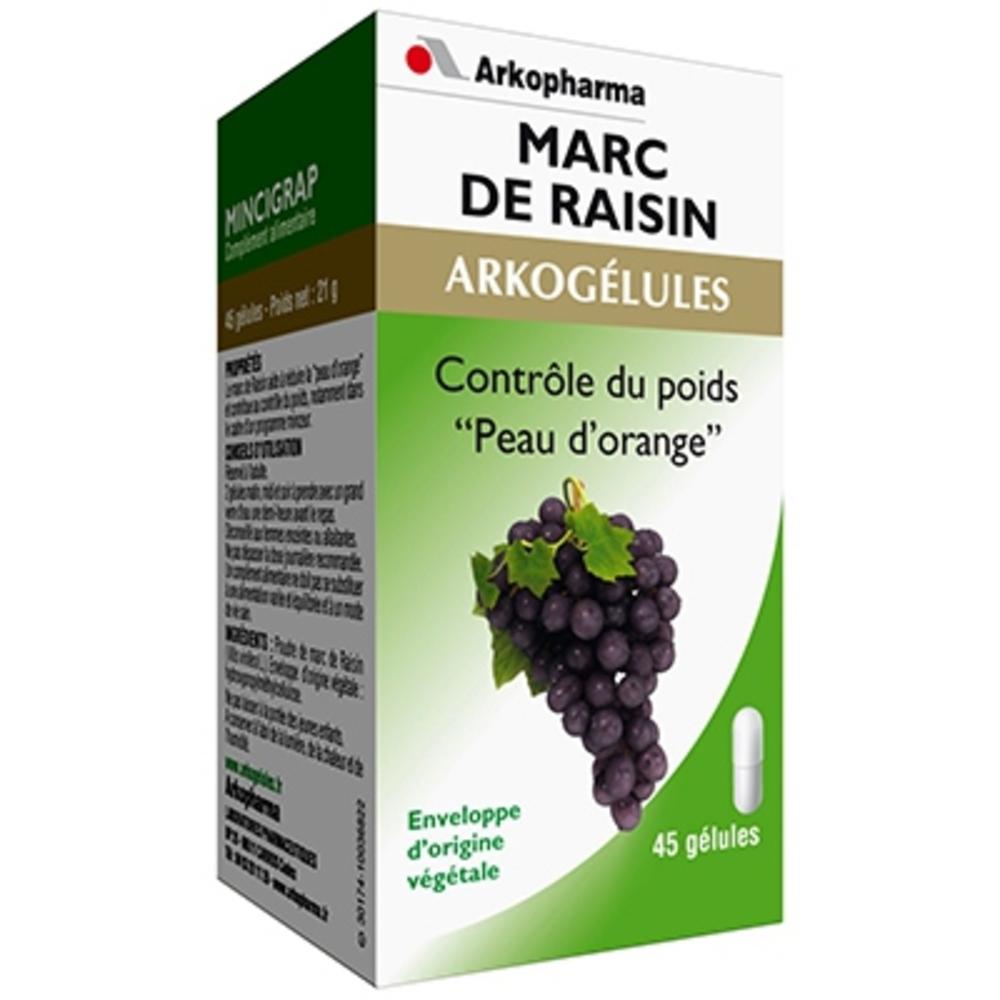 ARKOGELULES Mincigrap - 45 gélules - peau d'orange - Arko Pharma Arkogélules Marc de Raisin (Mincigrap)-147764