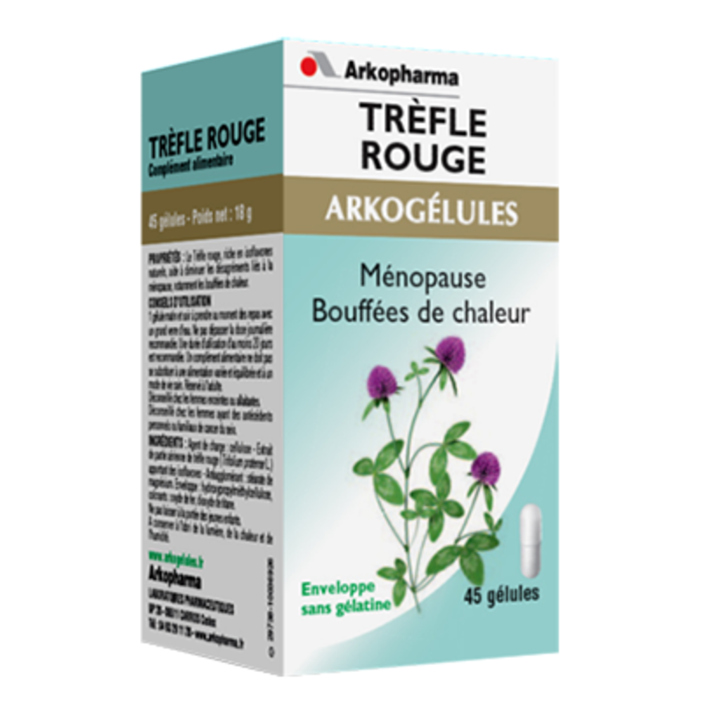 Arkogelules trèfle rouge - 45 gélules - 45.0 unites - ménopause - arkopharma Arkogélules Trèfle Rouge-147807