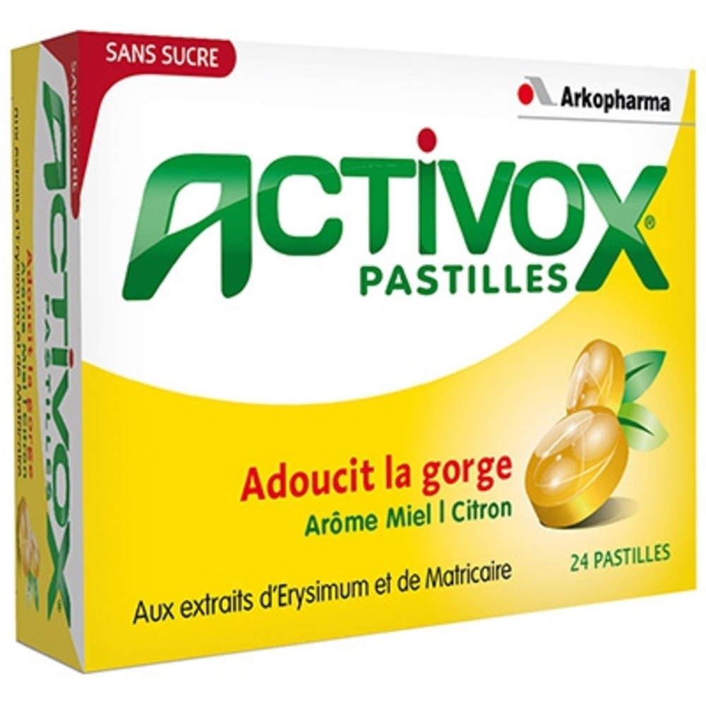 ARKOPHARMA Activox Pastilles Miel Citron x24 - Arko Pharma -190666
