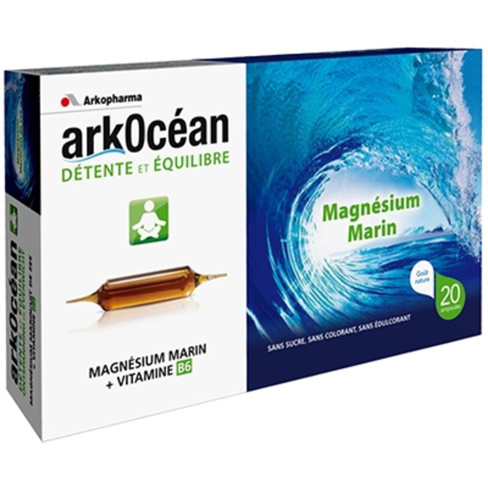 Arkopharma arkocéan détente et equilibre - goût nature - 300.0 ml - fatigue musculaire - arkopharma ArkOcéan Magnésium Marin et Vitamine B6 (Ampoules)-157735