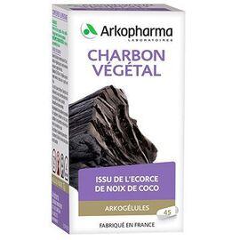 Arkopharma arkogélules charbon végétal 45 gélules - arkopharma -192462