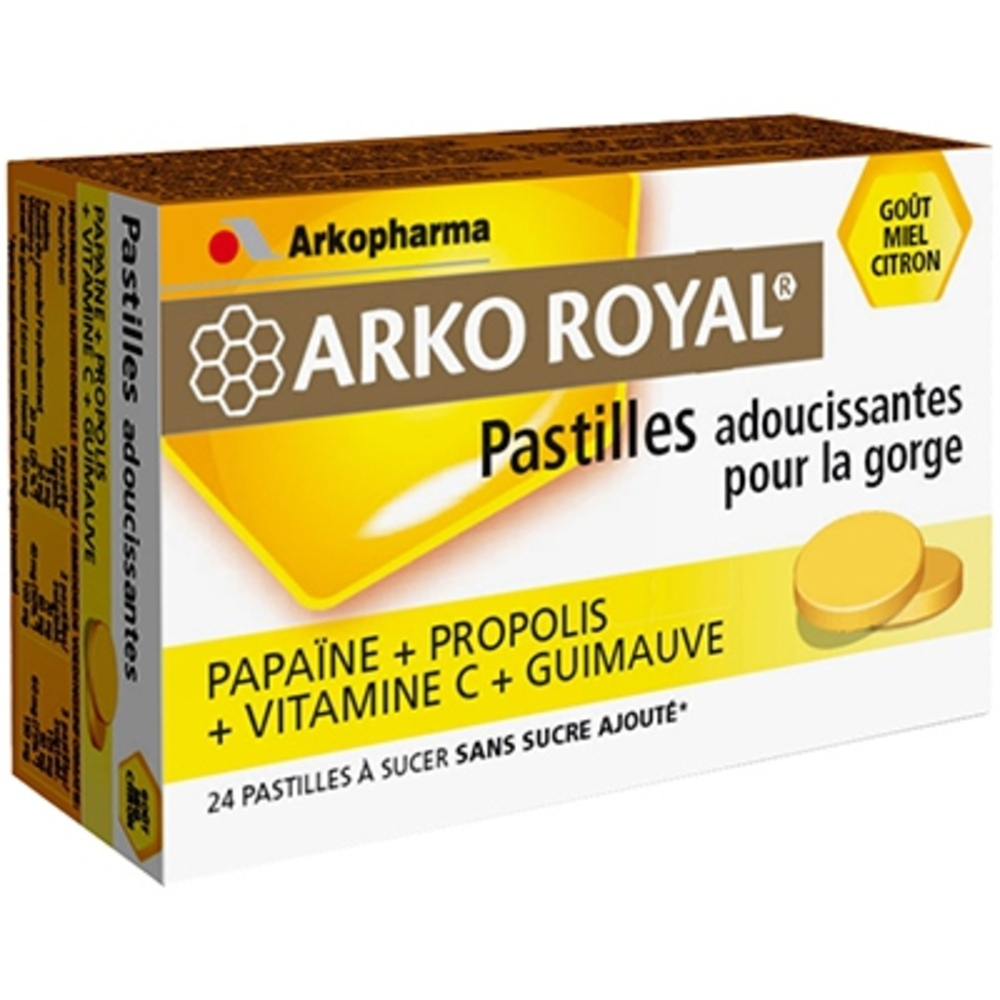 Arkopharma arkoroyal pastilles propolis miel citron - gorge - arkopharma ARKO ROYAL® Pastilles Propolis goût Miel Citron-131953
