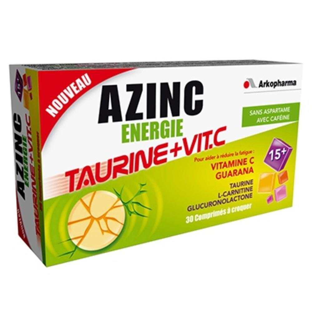 prix d 39 azinc energie taurine et vitamine c 30 comprim s. Black Bedroom Furniture Sets. Home Design Ideas