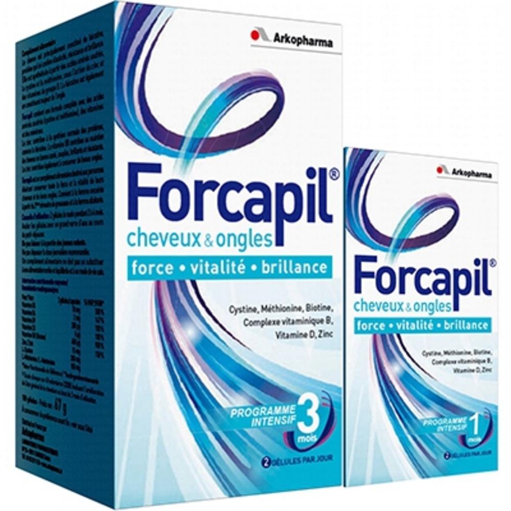 ARKOPHARMA Forcapil - 180 Capsules + 60 OFFERTES - 240.0 unites - beauté - Arko Pharma Forcapil-107413